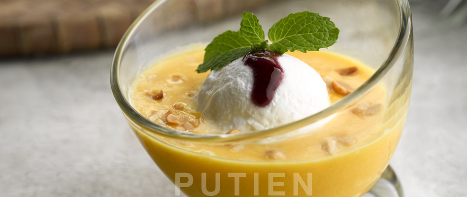 Pumpkin Cream with Ice-cream